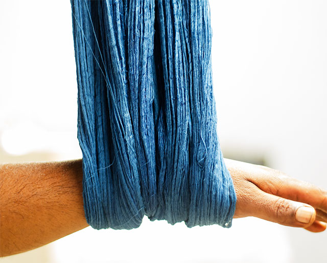 Sustainable Dyeing Organic Cotton Yarn